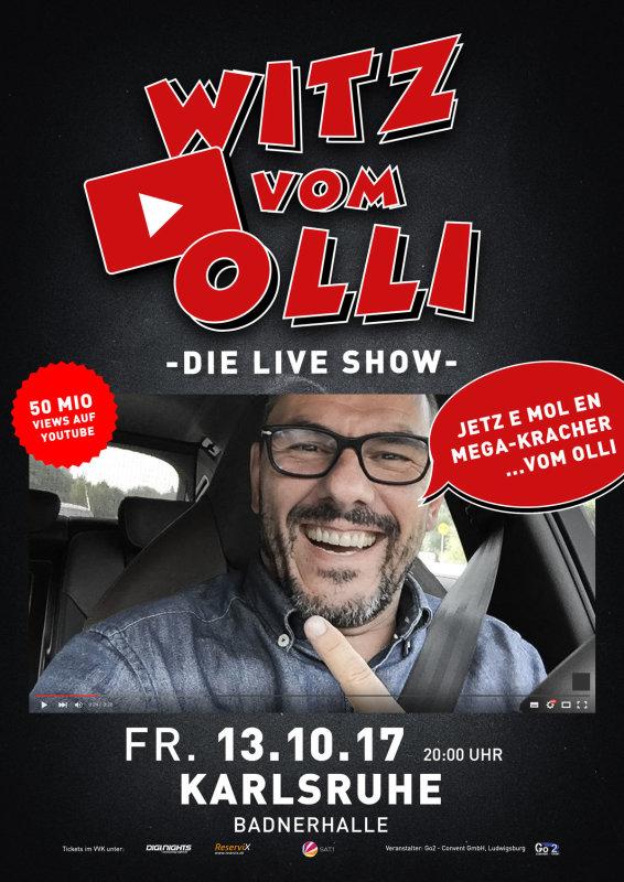 Flyer Ausverkauft! Witz vom Olli - die LIVE Show - Karlsruhe