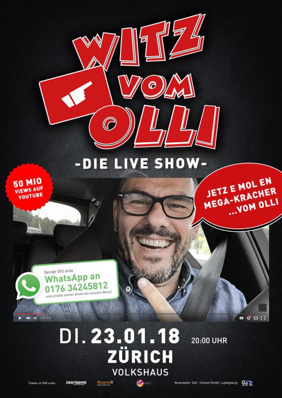 Flyer Witz vom Olli - die LIVE Show - CH-Zürich