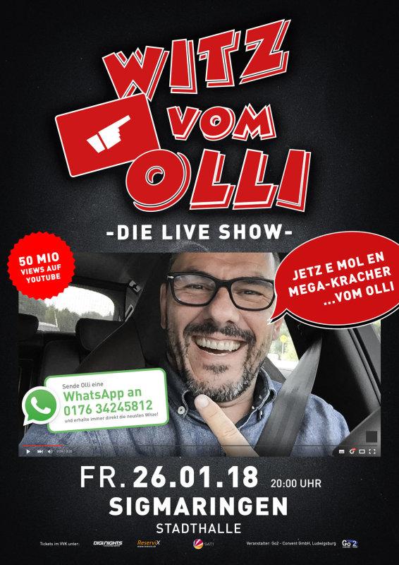 Flyer Witz vom Olli - die LIVE Show - Sigmaringen