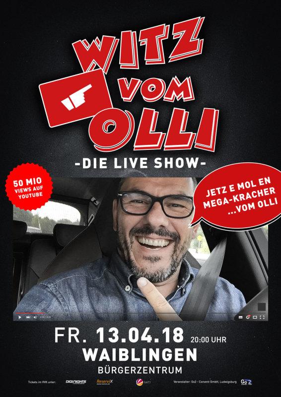 Flyer Witz vom Olli - die LIVE Show - Waiblingen