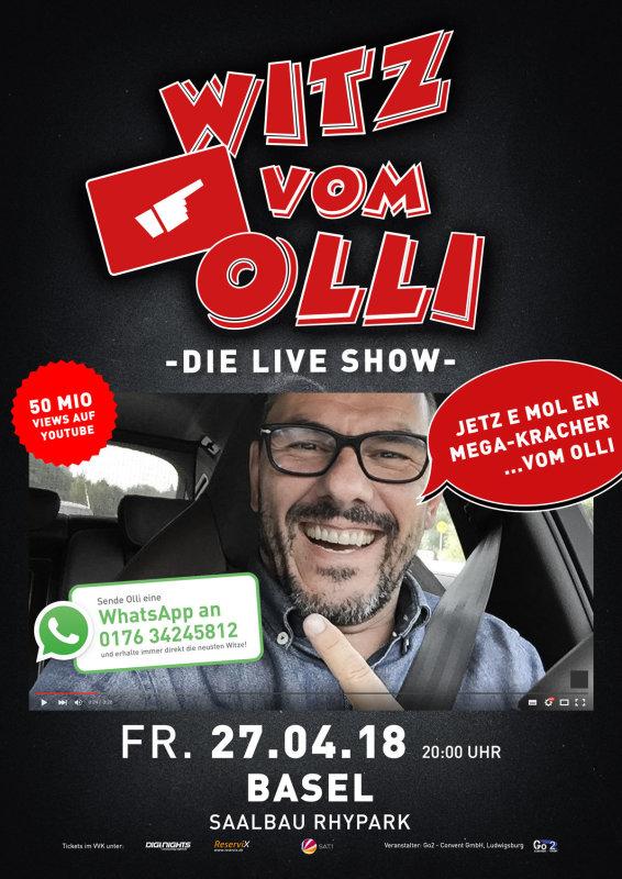 Flyer Witz vom Olli - die LIVE Show - CH-Basel