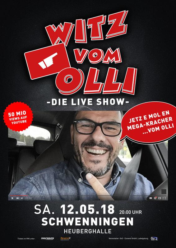 Flyer Witz vom Olli - die LIVE Show - Schwenningen (Heuberg)