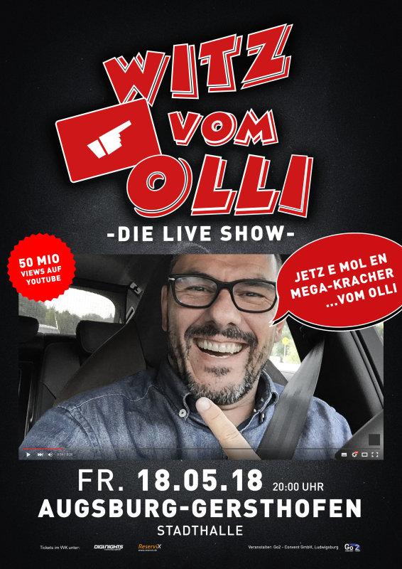 Flyer Witz vom Olli - die LIVE Show - Augsburg-Gersthofen