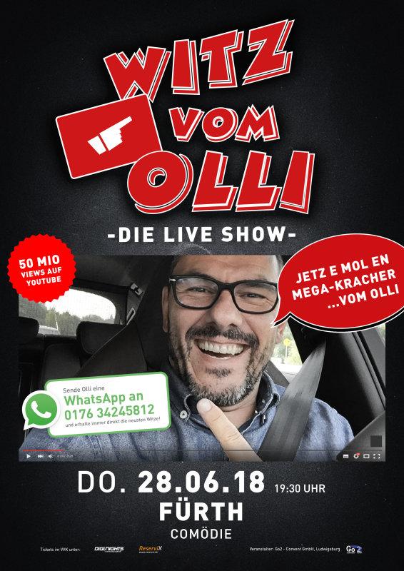 Flyer Witz vom Olli - die LIVE Show - Fürth (Zusatzshow)