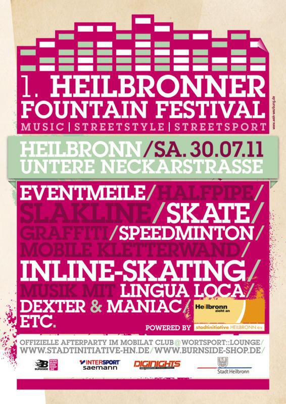 Pictures Heilbronner Fountain Festival Untere Neckarstraße In
