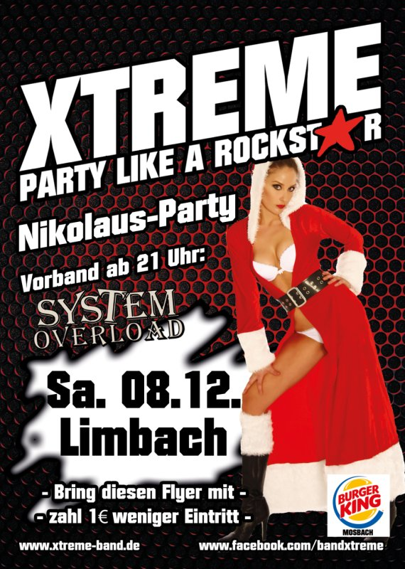 party nikolaus party mit xtreme narrentempel limbach. Black Bedroom Furniture Sets. Home Design Ideas