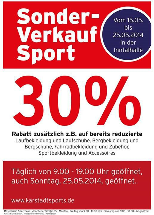 Rosenheim Sports In Inntalhalle Sonderverkauf Karstadt Party Bn8Uqx0tYW