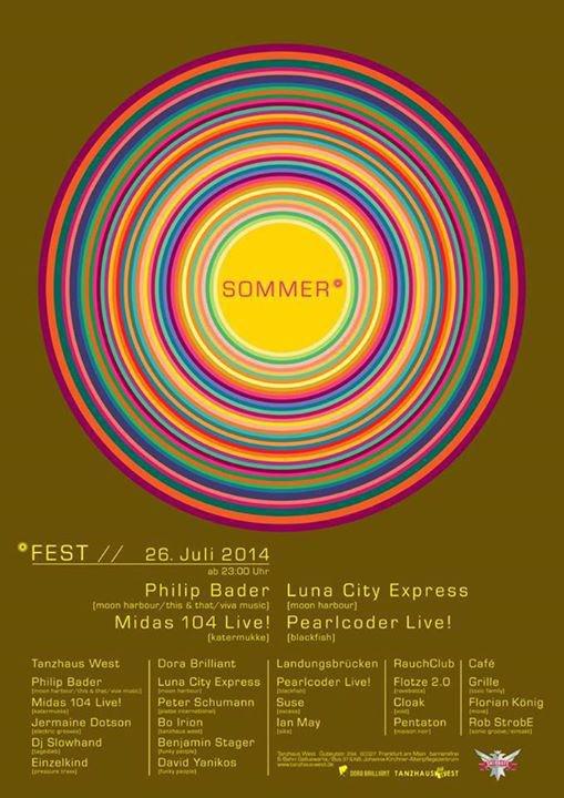 0f3847497e Party - Tanzhaus West   Dora Brilliant Sommerfest mit Philip Bader ...