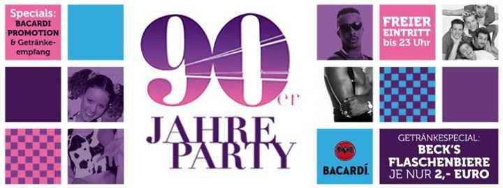 party 90er jahre party alando palais in osnabr ck. Black Bedroom Furniture Sets. Home Design Ideas