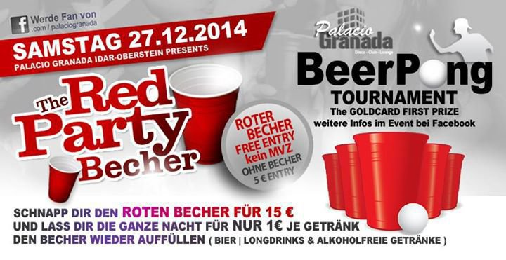 THE RED PARTY BECHER BEER PONG TURNIER