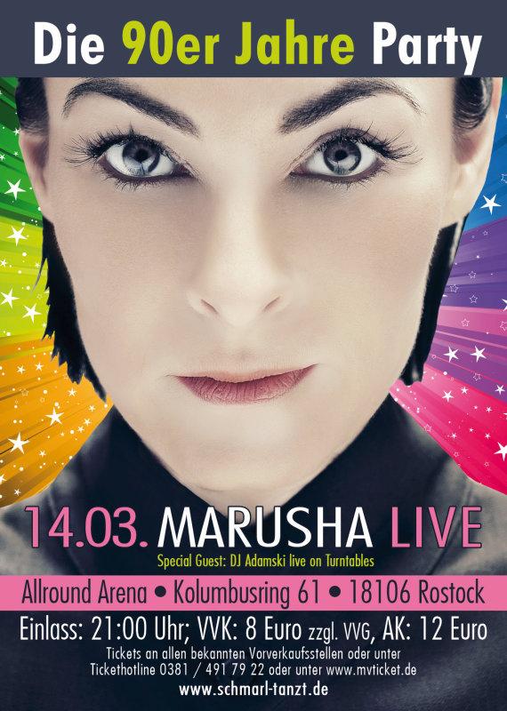 party 90er jahre party marusha live allround arena in rostock. Black Bedroom Furniture Sets. Home Design Ideas
