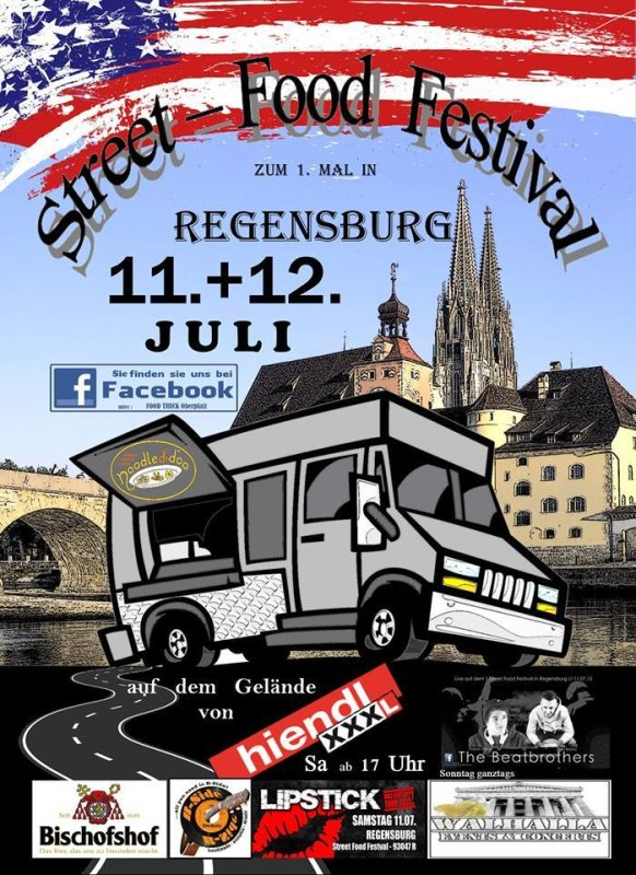 party 1 street food festival regensburg xxxl hiendl in regensburg. Black Bedroom Furniture Sets. Home Design Ideas