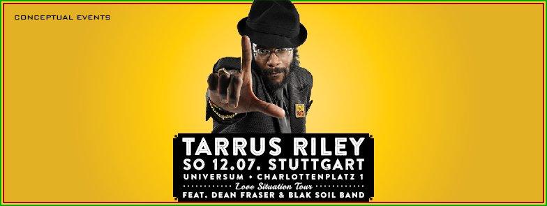 Concert tarrus riley blak soil band universum in for Soil tour dates 2015