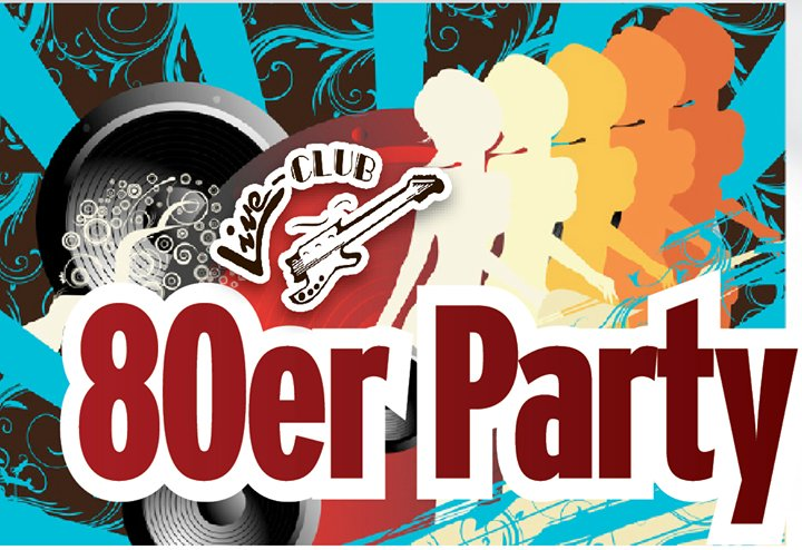 Party 80er jahre party live club in bamberg for Accessoires 80er party