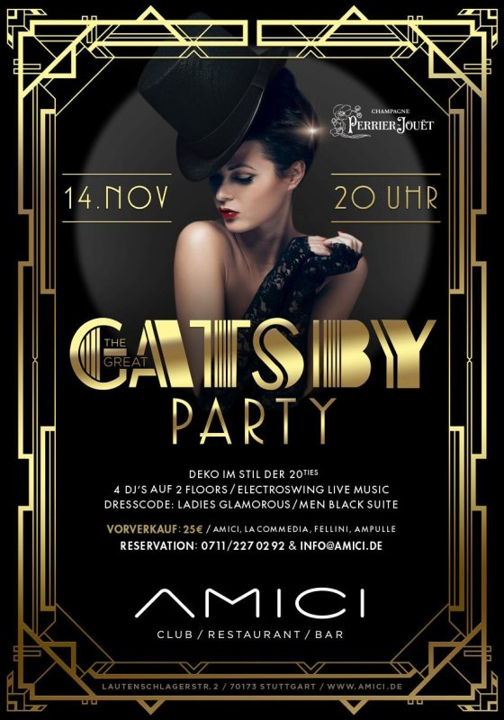 Party - The Great Gatsby Party - AMICI in Stuttgart - 14.11.2015