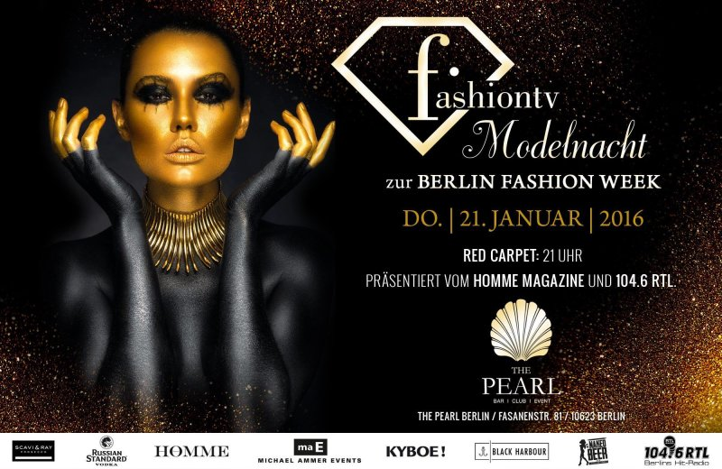 bilder fashion tv modelnacht zur berlin fashion week the pearl in berlin vom 21 jan 2016. Black Bedroom Furniture Sets. Home Design Ideas