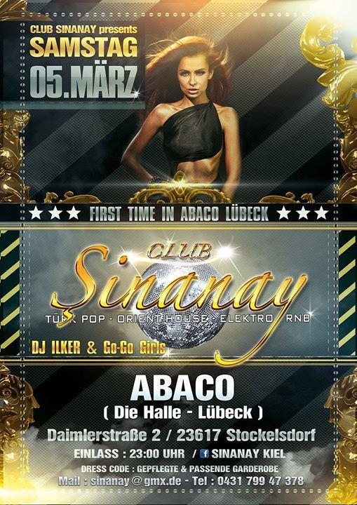 party club sinanay event highlight die halle l beck in stockelsdorf l beck. Black Bedroom Furniture Sets. Home Design Ideas