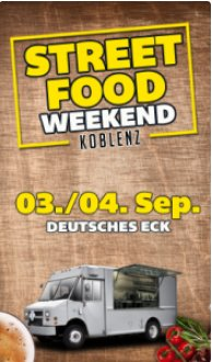 event street food weekend deutsches eck in koblenz. Black Bedroom Furniture Sets. Home Design Ideas