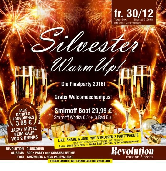 party silvester warm up diskothek revolution in geiersthal. Black Bedroom Furniture Sets. Home Design Ideas
