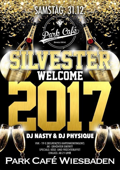 Party Silvester Welcome 2017 Im Park Café Wiesbaden Park