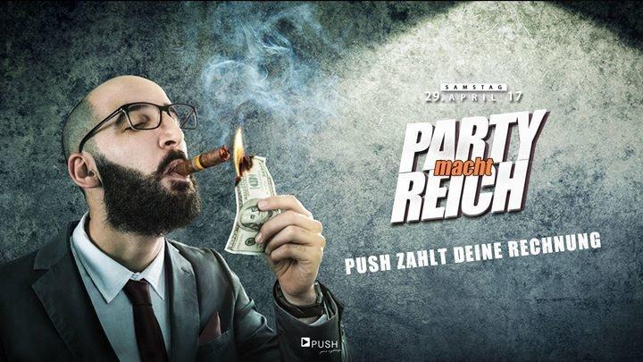 party party macht reich push zahlt deine rechnung push club in schnelldorf. Black Bedroom Furniture Sets. Home Design Ideas