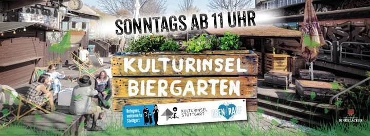 party kulturinsel biergarten sonntag familientag kulturinsel stuttgart original in. Black Bedroom Furniture Sets. Home Design Ideas