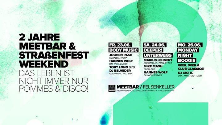 Party 2 Jahre Meetbar Strassenfest Weekend Meetbar