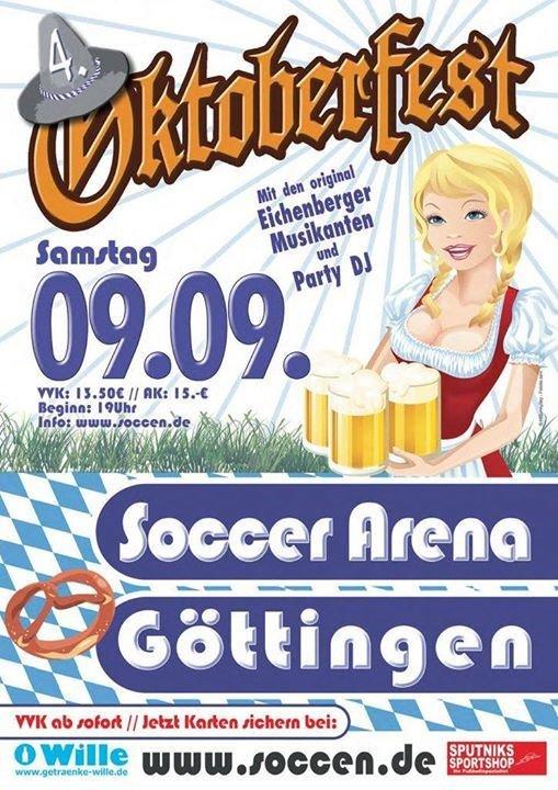 Party - Oktoberfest 2017 - Soccer Arena in Göttingen - 09.09.2017