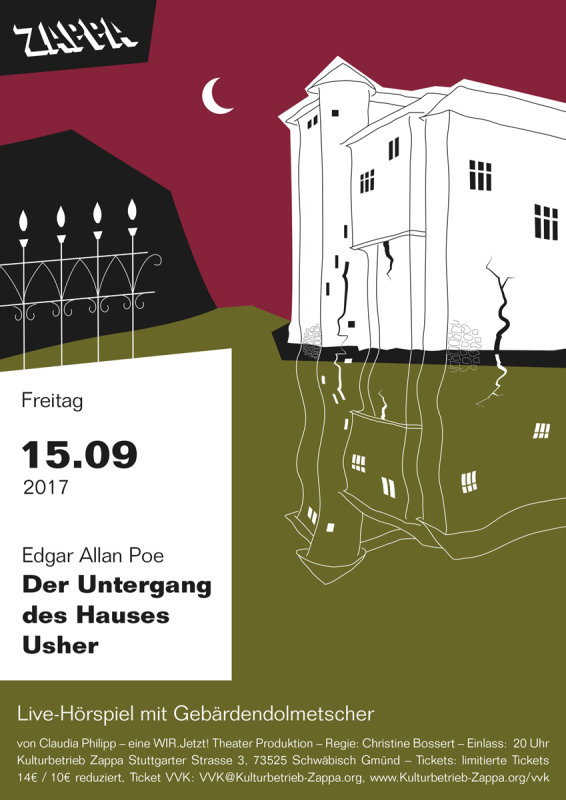 Party ZAPPart Der Untergang des Hauses Usher Live