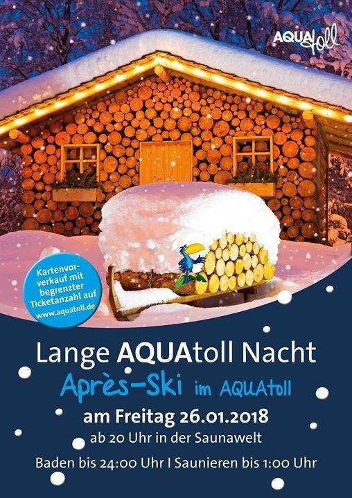 party lange aquatoll nacht apr s ski im aquatoll freizeitbad aquatoll in neckarsulm 26. Black Bedroom Furniture Sets. Home Design Ideas