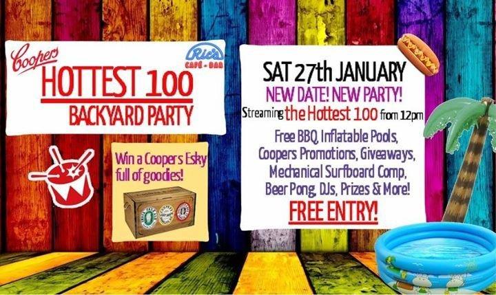 Rics Hottest 100 Backyard Party