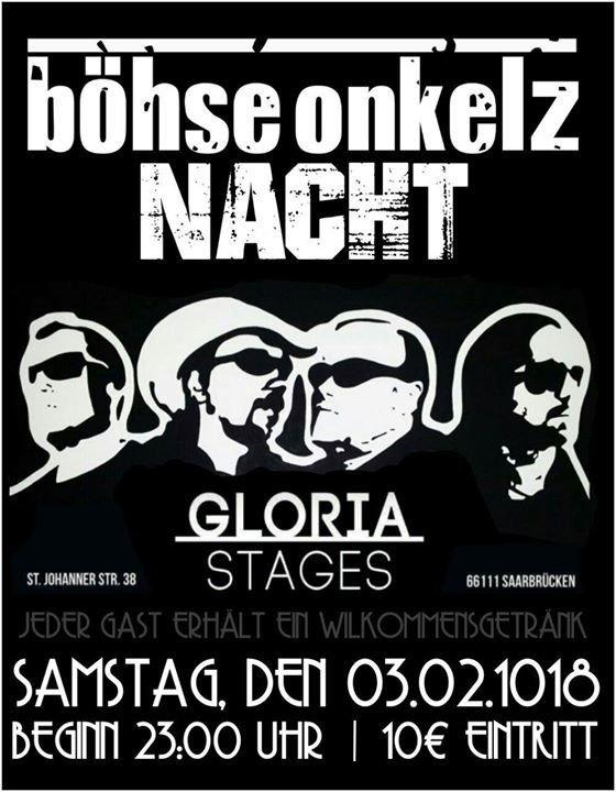événement Böhse Onkelz Nacht N8werk In Saarbrücken 03022018