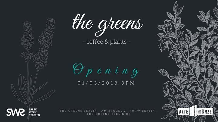 Party Opening The Greens Coffee And Plants Alte Münze In