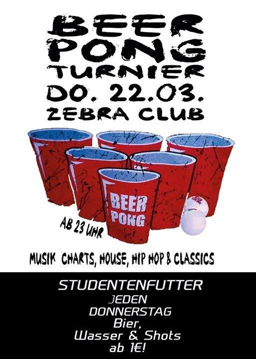 Party Studentenfutter – Beerpong Turnier Zebra 2 0