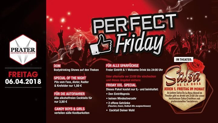 Festa Perfect Friday Friday Xxl Angebot Prater In Bochum