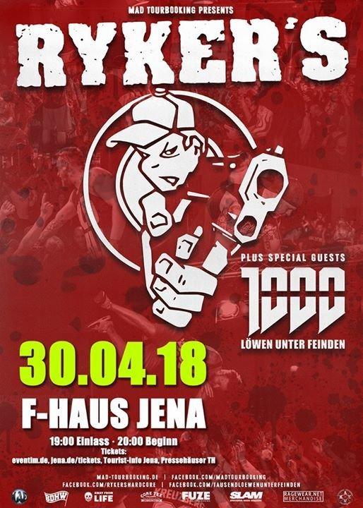 Festa Rykers 1000 Lowen Unter Feinden F Haus In Jena 30 04 2018